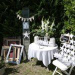 Mariage dans un jardin décoration