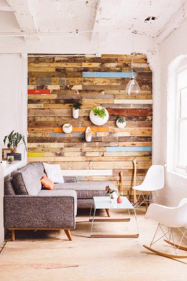 Decoration murale bois brut