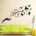 Décoration murale papillon noir