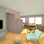 Decoration interieur sketchup