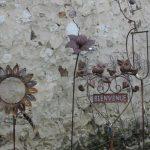 Decoration jardin en fer rouillé