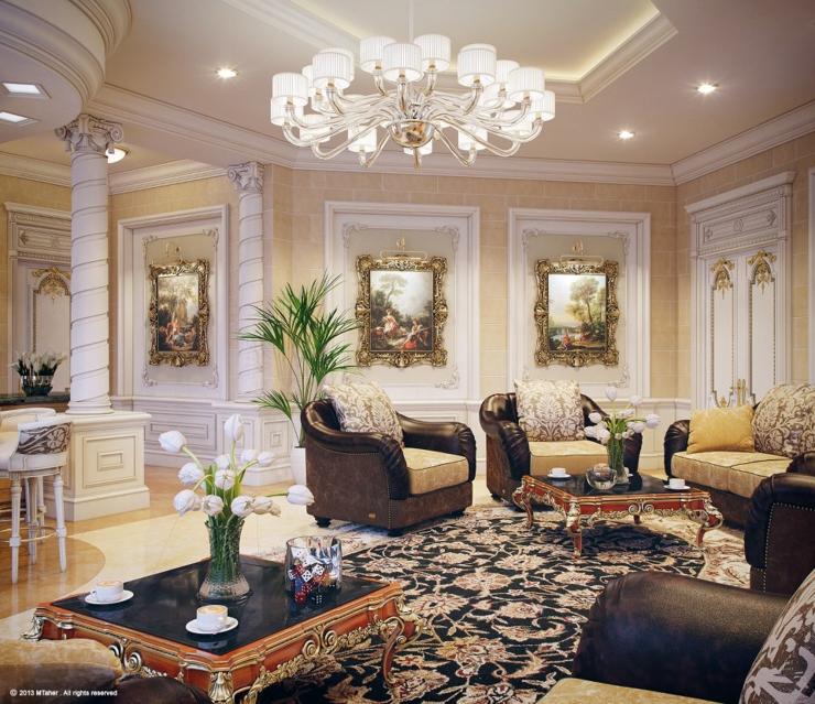 Decoration salon luxe