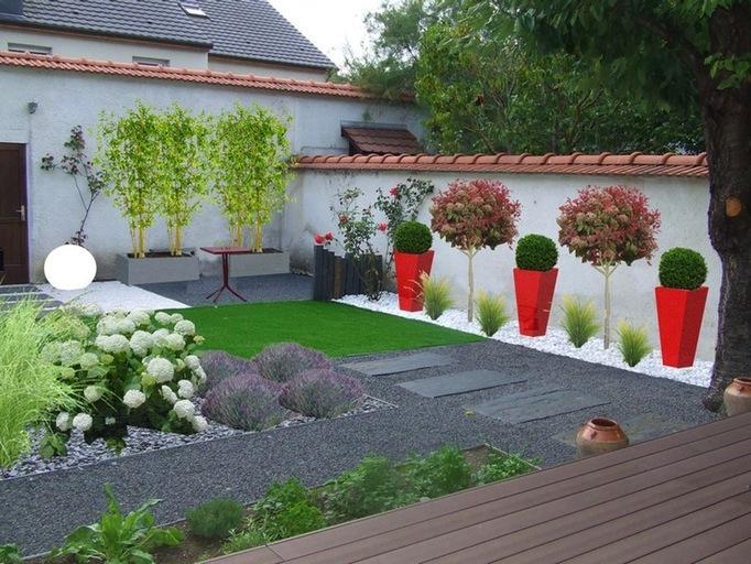Décoration jardin contemporain - Design en image