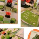 Decoration table theme jardin