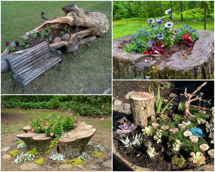 Decoration arbre mort dans jardin - Design en image