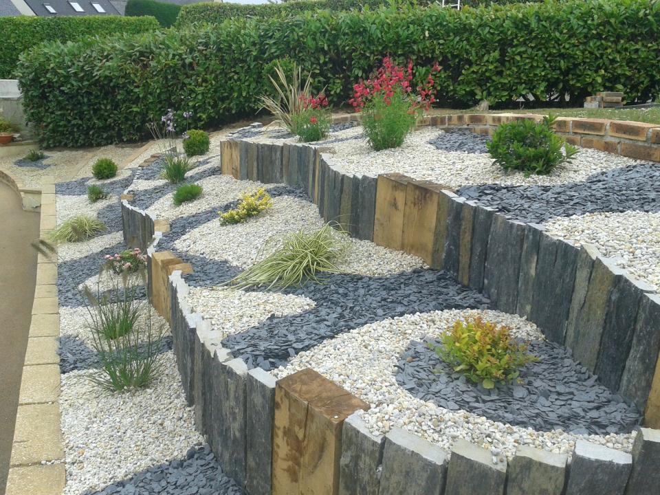 Moderne Ardoises decoration jardin - Design en image BM-15