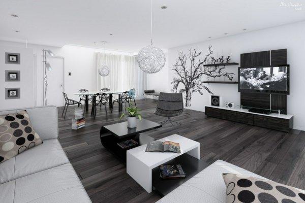 Decoration Interieur Moderne Noir Et Blanc