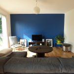 Décoration salon blanc beige bleu