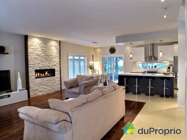Décoration salon cuisine aire ouverte - Design en image