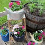 Décoration jardin récupération