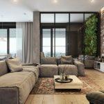 Decoration salon avec brique