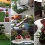 Décoration de jardin avec des cailloux