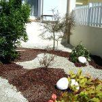 Cailloux décoration jardin