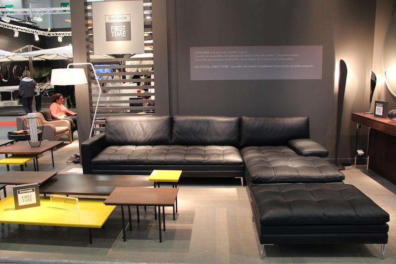 Salon cuir noir decoration - Design en image