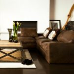 Décoration salon avec carrelage marron