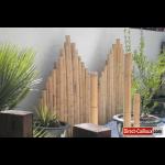 Decoration jardin canne bambou