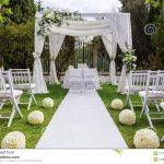 Decoration mariage dans un jardin