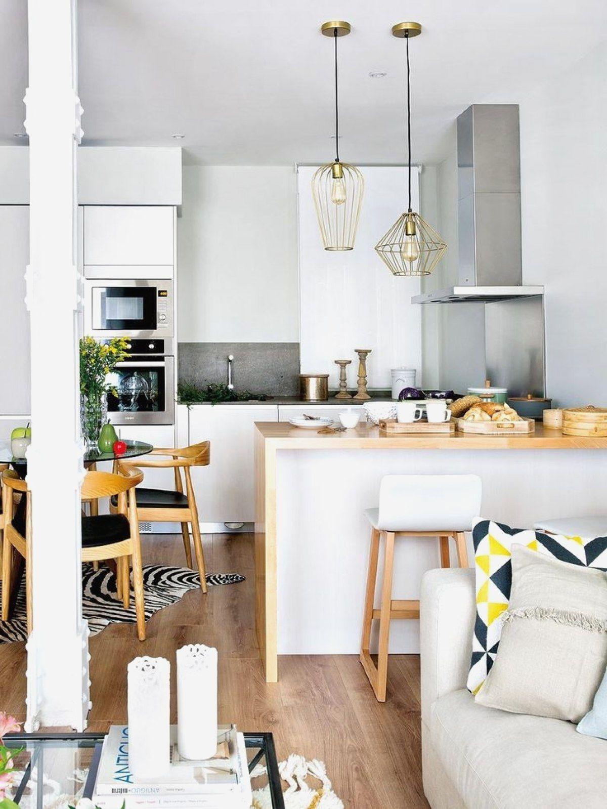 Decoration petit salon avec cuisine ouverte