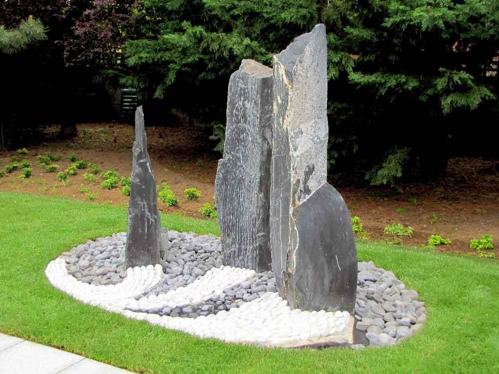 Décoration pierre pour jardin