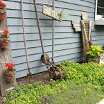 Porte decoration jardin