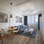 Decoration salon blanc gris bleu