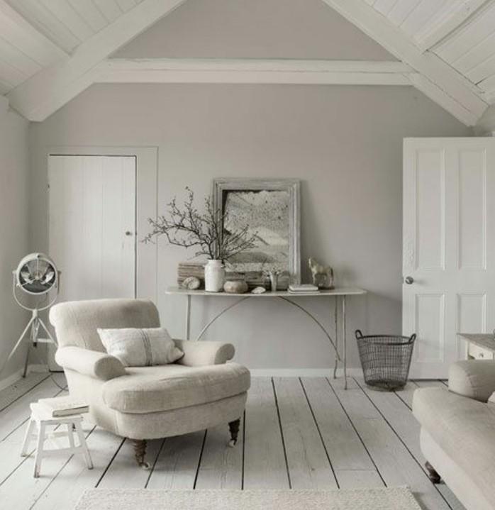 Decoration interieur gris perle