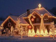 Photo de maison decoration de noel