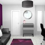 Decoration interieur mur violet
