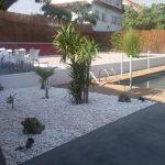 Cailloux blanc decoration jardin