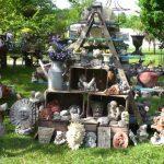 Objet pour decoration de jardin