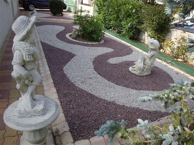 Cailloux de décoration pour jardin - Design en image