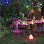 Décoration jardin soirée