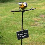 Decoration jardin oiseaux