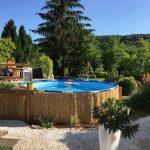 Jeux de decoration de jardin avec piscine