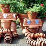 Decoration de jardin personnage