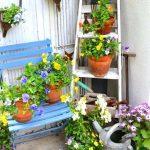 Decoration jardin avec objet de recuperation
