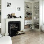 Decoration interieur salon avec cheminee