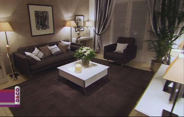 Decoration salon en marron et beige - Design en image