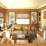 Decoration salon beige orange