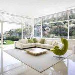 Decoration salon blanc et vert