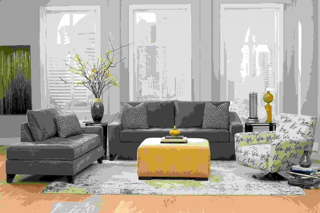 Decoration salon gris fuchsia - Design en image