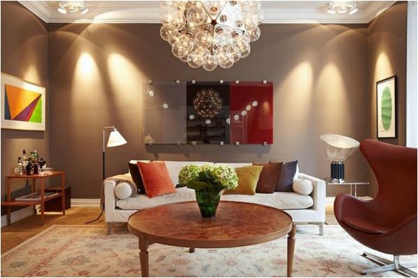 Décoration salon couleur chaude - Design en image