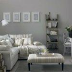 Decoration salon gris cosy