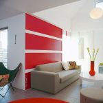 Decoration salon couleur rouge