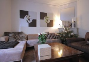 Salon decoration taupe
