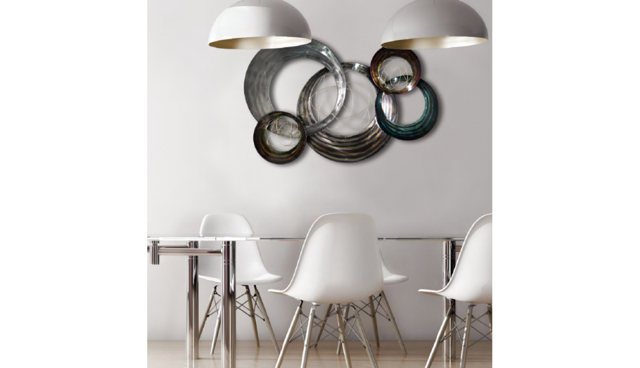 Decoration en metal pour interieur