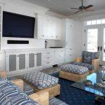 Decoration salon gris bleu