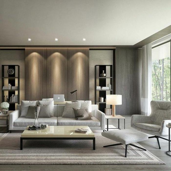 Salon decoration contemporaine - Design en image