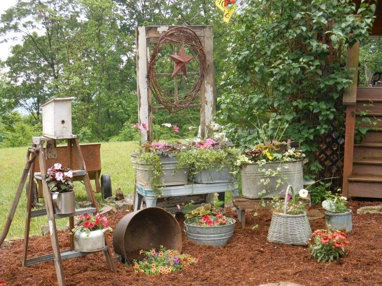 Decoration jardin avec de la recup - Design en image