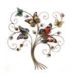 Décoration murale métal papillons